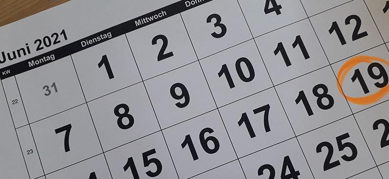 Kalendereintrag 19.02.2021