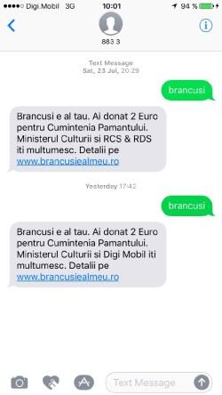 donație Brâncuși