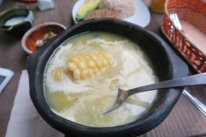 Ajiaco vegano (Bogotá, Colombia)