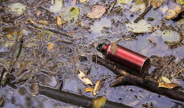 Abandoned water bottle