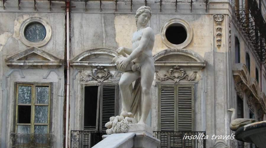 tour sicilia, palermo fontana pretoria
