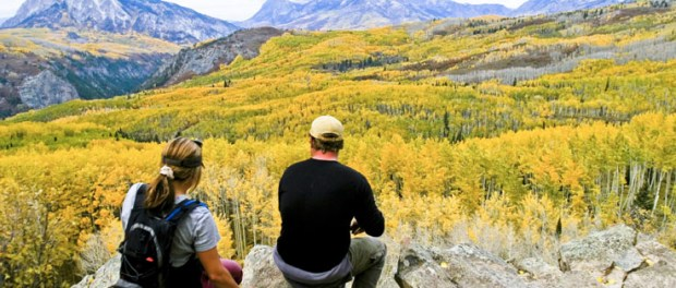 Ein Meer aus goldenen Espen in der Nähe von Crested Butte beim West Elk Loop. - Foto: Gunnison Crested Butte Tourism Association