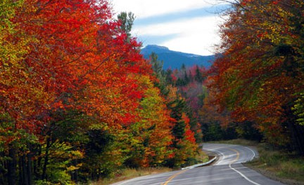 Unterwegs auf dem Kancamagus Highway in New Hampshire. - Foto: Ellen Edersheim