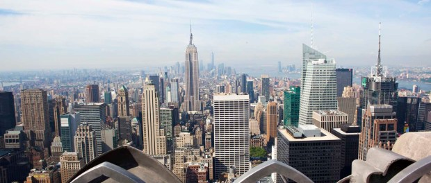 Vom Top of the Rock auf das Empire State Building geblickt. - Foto: NYCgo/Marley White