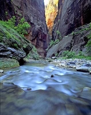 The Narrows. - Foto: Zion Nationalpark