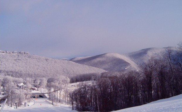 Winterlandschaft in den Blue Ridge Mountains. - Foto: Wintergreen Resort