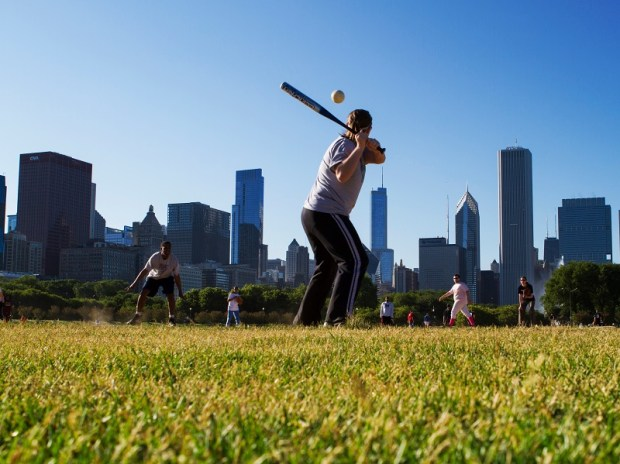 Baseball im Grant Park. - Foto: Adam Alexander Photography/Choose Chicago