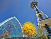 SpaceNeedle & Chihuly in Seattle. - Foto: Terry Rishel