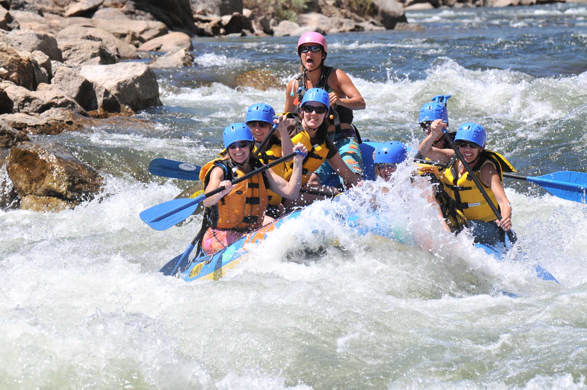 Spaß beim Rafting. – Foto: Adventure Company/Breckenridge Tourism Office