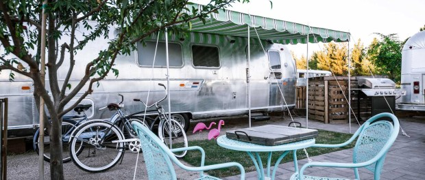 Glamping im Airstream in Shnepf Farms. - Foto: Shnepf Farms