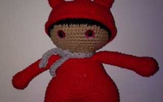 Amigurumi red devil crochet diable rouge