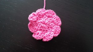 Crochet 8 petals applique
