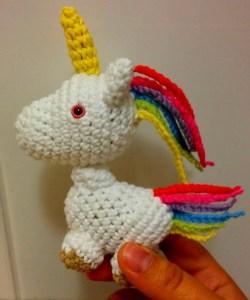 Crochet pony unicorn