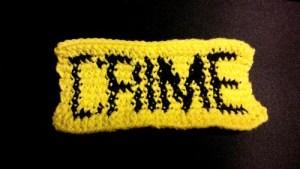 Crime scene bookmark crochet