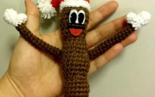 Patron crochet gratuit de Mr. Hankey le petit caca de Noël, free crochet pattern of Mr. Hankey