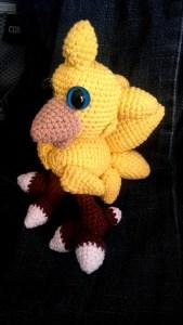 Crochet amigurumi mini chocobo final fantasy VII