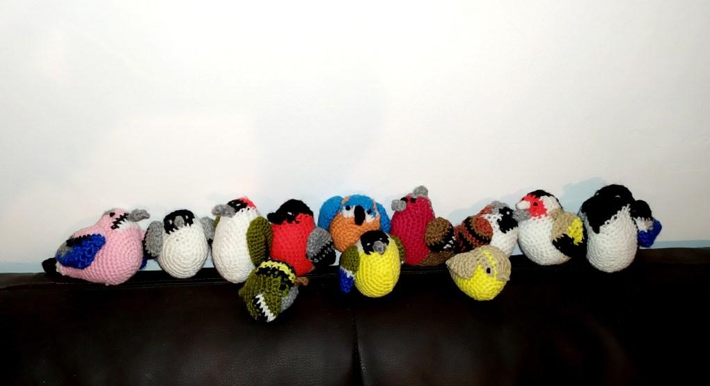 Crochet 12 british birds
