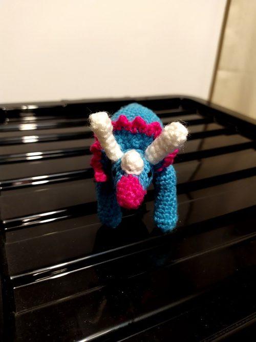 crochet baby triceraptops