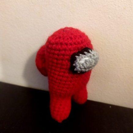 Crochet Importer among us amigurumi rouge