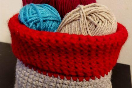 pattron crochet panier a pelote de laine