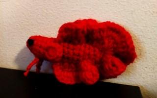 Crochet amigurumi poisson combattant