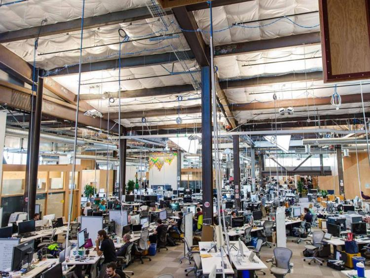 Image: Facebook's new headquarters where open-plan is king and 'frictionless working' is the aim Independent.co.uk