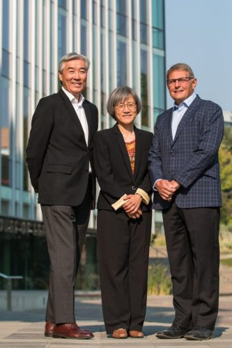 Jack Wong, Fiona Chan and Bruce Gysel.