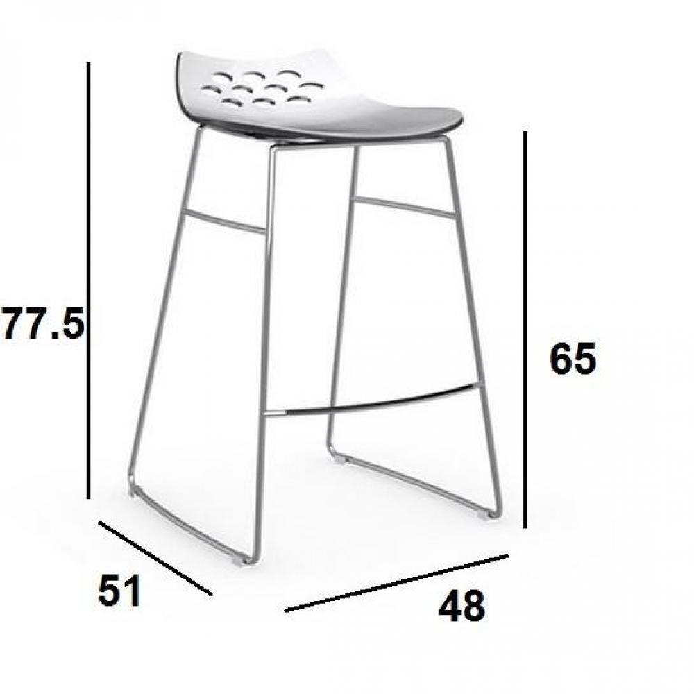 Tabouret De Bar Cuisine Design Plexiglas Transparent Orion