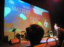 Pastor Noel officiates today's Sunday worship
