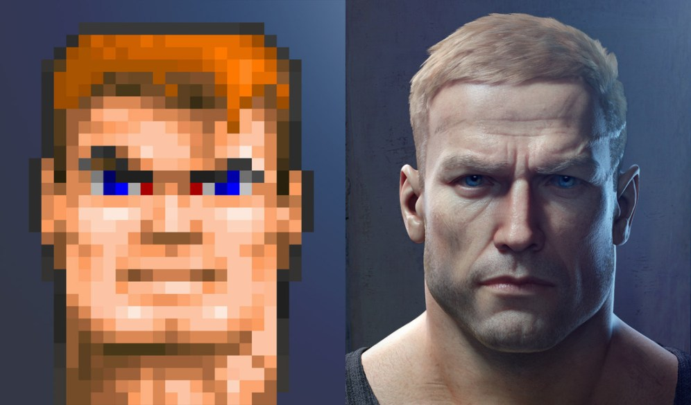 The Comparison: The original face to the new face...