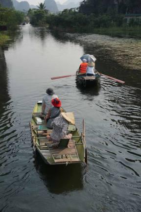 Boating in Ninh Binh