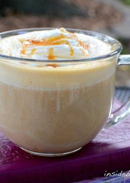 Salted Caramel Pumpkin Latte - coffee, milk, pumpkin puree, and caramel in a delicious fall latte  http://www.insidebrucrewlife.com