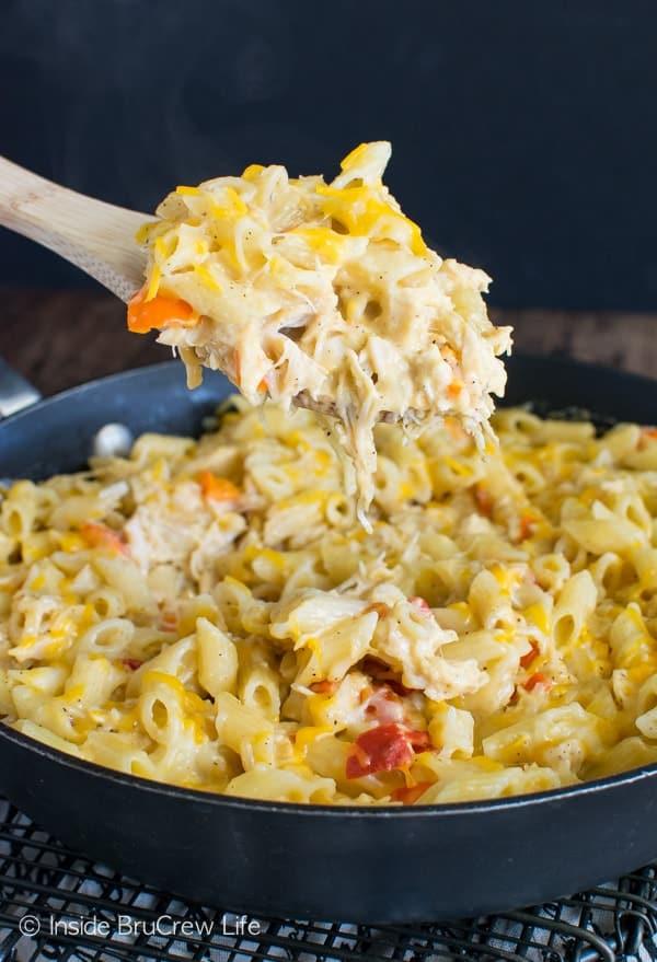 Cheesy Chicken Pasta Skillet Recipe - Inside BruCrew Life