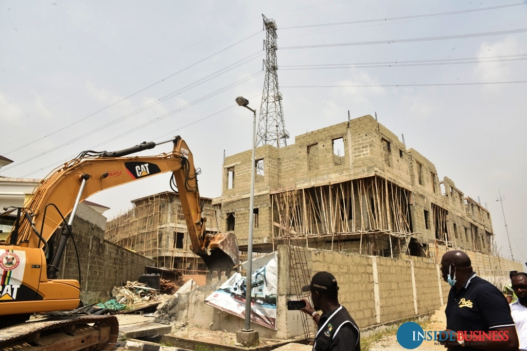 Image result for Lagos Demolishes Illegal Structures At Banana Estate