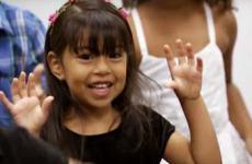 Young preschool student