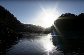 view of river in eureka, california