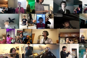 music students on zoom call with teacher