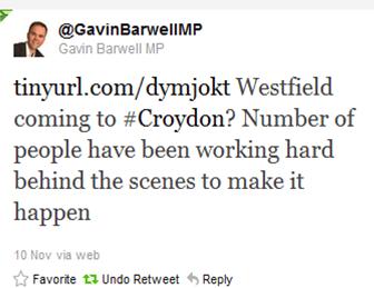 GB Westfield Tweet