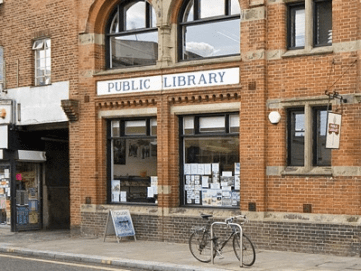 Upper Norwood library: faces an uncertain future due to Croydon's municipal vandalism