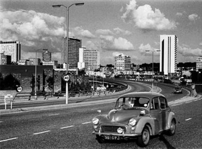 Croydon Flyover soon after it was built in the 1960s, by a large contingent of Irish labourers