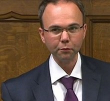 MP Gavin Barwell speaking in parliament: but who does he represent there - his constituents or the Whitgift Foundation?