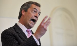 UKIP party leader Nigel Farage: happy to accept £1m of EU money and to team up with a Holocaust-denier's party to do so