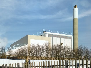 """The incinerator at South Bermondsey: since it began operating in the 1990s, infant death rates in areas """"downwind"""" of the plant have increased notably"""