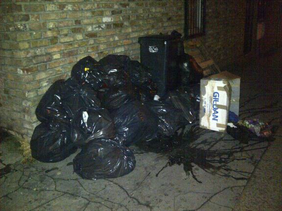 Just off Thornton Heath High Street last month: maybe those rubbish collections once a fortnight isn't working?