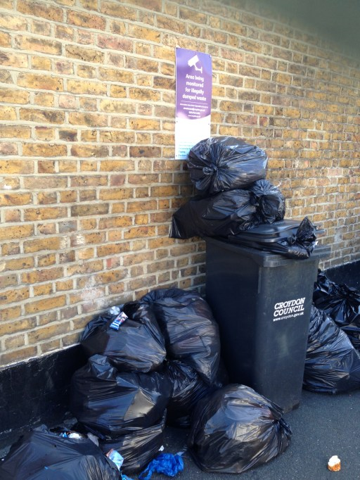 There are some sites around the borough, such as this one in South Croydon, which made an appearance when we ran the Garbage Gallery 18 months ago. It seems that dumping rubbish is habit-forming