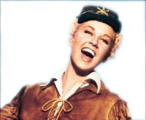 Whip crack away: Doris Day as she appeared 60 years ago in the Hollywood movie Calamity Jane