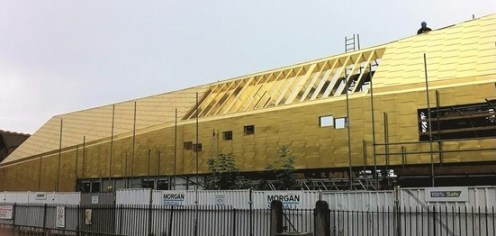 Well, do you like it? The golden spaceship that has landed on Whitehorse Road school
