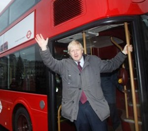 Hold very tightly: Boris Johnson won't be taking a bus ride across Spring Lane Bridge in Ashburton any time soon