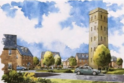 Developers Barratt's somewhat idealised vision of the new Cane Hill village, due to open next year