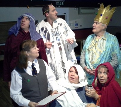 This is no children's nativity play: the Mitre Players in their Christmas production